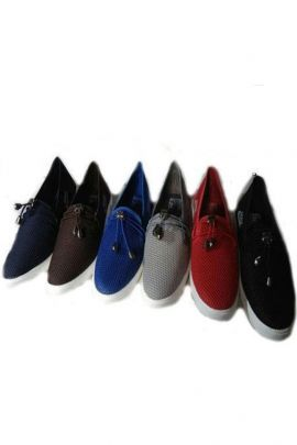 A Bunch Of Black Event Wear Stylish Mens Moccasin Shoes Set