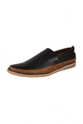 A Bunch Of Black Synthetic Leather Mens Casual Loafer Set