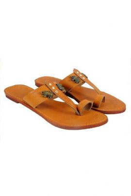 A Bunch Of Brown PVC Ladies Jaipuri Slipper Set