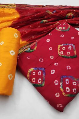 A Bunch Of Cotton Printed Daily Wear Dress Material With Dupatta Set