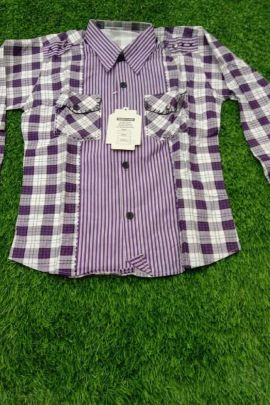 A Bunch Of Cotton Printed Daily Wear Readymade SBF Kids Shirts Set