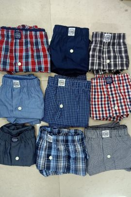 A Bunch Of Cotton Printed Daily Wear Simple Readmade Mens Boxer Set