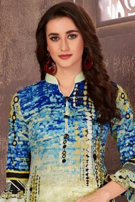 A Bunch Of Cotton Printed Event Wear Stylish Miss World Choice Dress With Dupatta Set