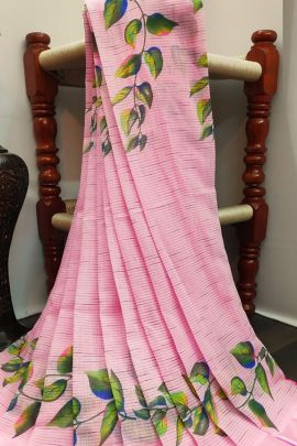 A Bunch Of Cotton Satin Flower Printed Event Wear Saree With Blouse Piece Set