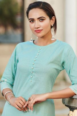 A Bunch Of Daily Wear Cotton Plain Kurti With Pant Set
