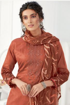 A Bunch Of Event Wear Cotton Embroidered Alok Suit Dress With Dupatta Set