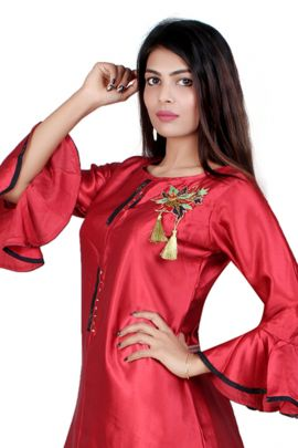 A Bunch Of Fancy Fabric Event Wear Stylish Barebeesaa Kurti With Bottom Set