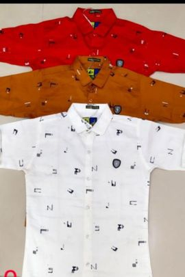 A Bunch Of Lycra Printed Stylish Casual Wear Shree Laxmi Boys Shirts Colleciton