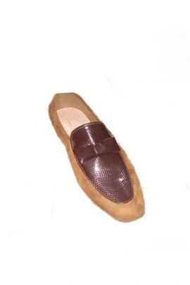 A Bunch Of PU Mens Brown Slip On Casual Shoes Set