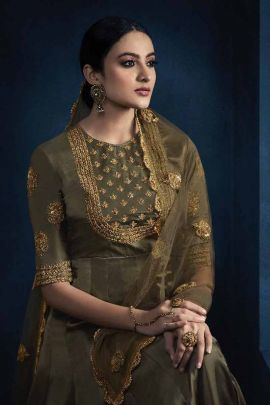 A Bunch Of Silk Satin Georgette Embroidered Mugdha Indo Western Dress With Dupatta Collection