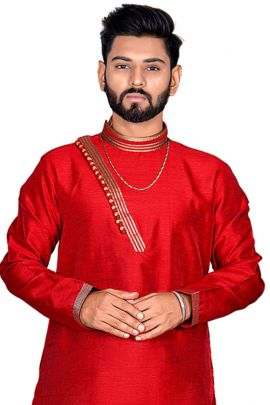 A Bunch Of Simpe Plain Fancy Fabric Event Wear Men Kurta Collection