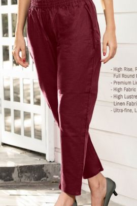 A Bunch Of Stylish Daily Wear Cotton Linen Ladies Pants Set