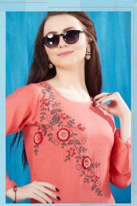 A Bunch Of Stylish Evening Wear Rayon Stree Lifestyle Kurti Collection