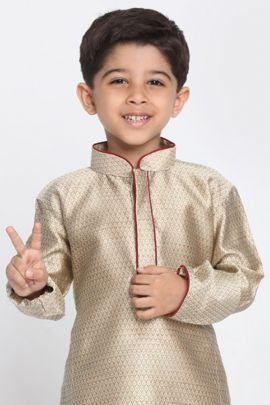 A Bunch Of Stylish Event Wear Fancy Fabric Boys Kurta Pajama Set