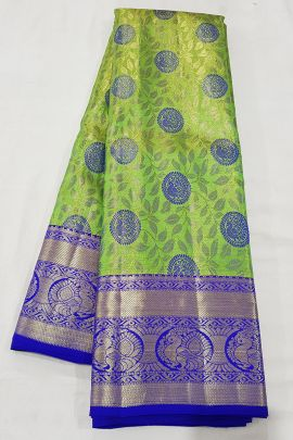A Bunch Of Stylish Handloom Tissue Silk South Indian Style Saree With Blouse Piece Set