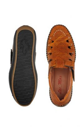 A Pack Of Brown Event Wear Mens Leather Sandals Set