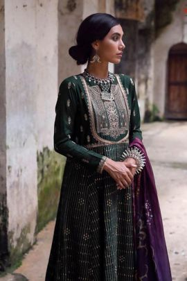 A Pack Of Cotton Embroidery Work Pakistani Style Suit With Dupatta Set
