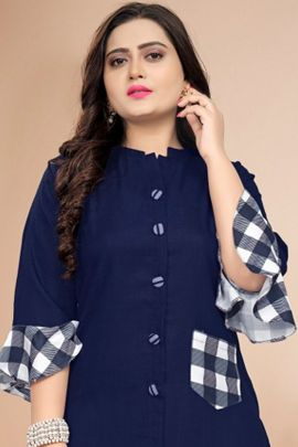 A Pack Of Cotton Printed Daily Wear Kurti With Pocket Bunch