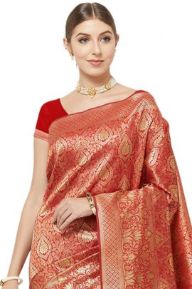 A Pack Of Silk Evening Wear Stylish VND Saree With Blouse Piece Set
