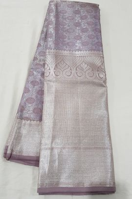 A Pack Of Stylish Handloom Tissue Silk South Indian Style Saree With Blouse Piece Set
