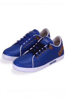 A Set Of Blue Stylish Party Wear Mens Sneaker Shoes Bunch