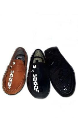 A Set Of Brown And More Color Leather Mens Loafer Bunch