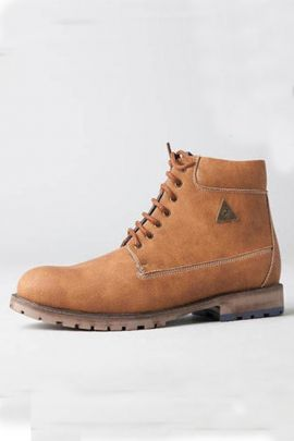A Set Of Brown Stylish Mens High Ankel Boots Collection