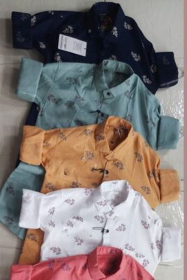 A Set Of Cotton Printed Event Wear Stylish Mens Shirts Bunch