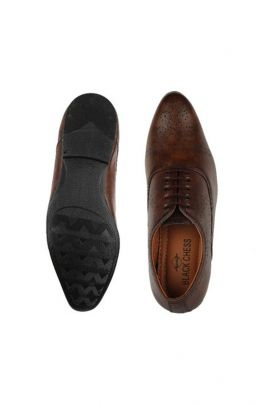 A Set Of Dark Brown Party Wear Mens Shoes Bunch