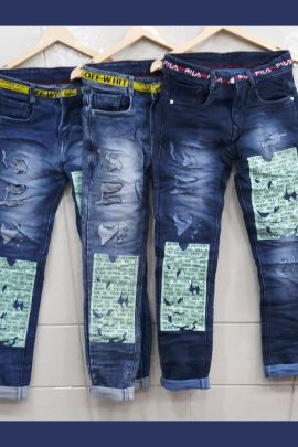 A Set Of Denim Monkeywash Daily Wear Printed Mens Jeans Pants Bunch