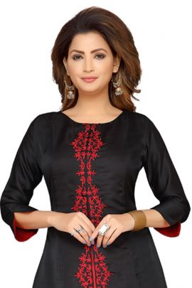 A Set Of Fancy Fabric Evening Wear Knee Length Barebeesaa Kurti With Inner Collection