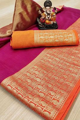A Set Of Kota Silk Weaved Doriya Colourful Saree For Festive Wear By Maithali Creation