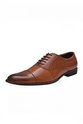 A Set Of PU Mens Brown Formal Shoes Bunch
