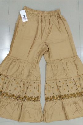 A Set Of Rayon Embroidered Stylish Sharara Bottom Bunch