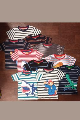 Bulk Daily Wear Printed Cotton Boys Tshirts Set