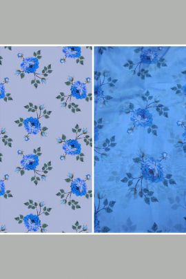 Bulk Floral Printed Organza Fabric At Bulk Rates