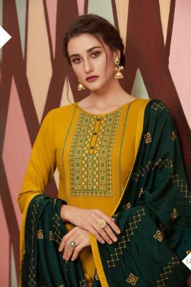 Bulk Function Wear Embroided Flex Rayon Kessi Fabrics Patiyala Suit Set