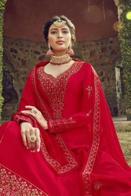 Bulk Satin Georgette Embroidery Top With Gharara By RSF