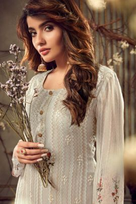 Bunch Occasional Wear Embroided Hotlady Viscose Bemberg Georgette Suit Set