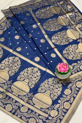 Bunch Of Banarasi Silk Dupatta With Traditional Jacquard Work By Maithili Creation