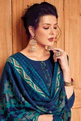 Bunch Of Casual Wear Printed Pashmina Patiyala Suit By Alok Suit