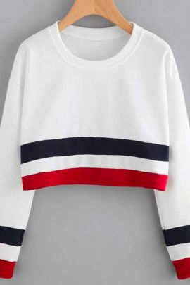 Bunch Of Colour Blocked Cotton Crop Top Tshirt By Desney Fashion