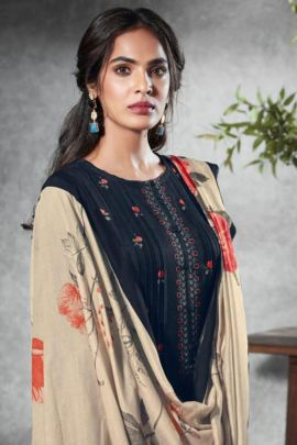 Bunch Of Cotton Satin Digital Printed Suit With Embroidery By Sudriti