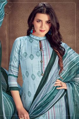 Bunch Of Cotton Satin Printed Casual Suit By Dhaga