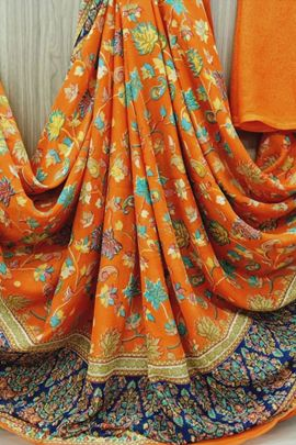 Bunch Of Daily Wear Printed Georgette Saree By Saibaba Textile