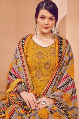 Bunch Of Party Wear Pashmina Patiyala Suit With Embroidery Work By Alok Suit