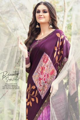 Bunch Of Printed Georgette Casual Saree By Vallabhi Prints