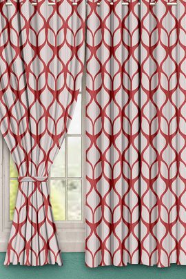 Bunch Of Printed Ready Made Linen Hometique Curtain For Windows