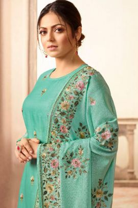 Bunch Of Rebella Silk Embroidery Suit With Swarovski Work By Nitya