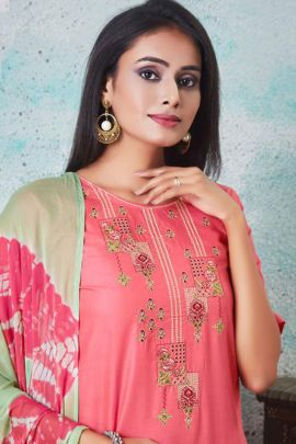 Bunch Of Semi Lawn Cotton Embroidered Festive Wear Suit By Tarang